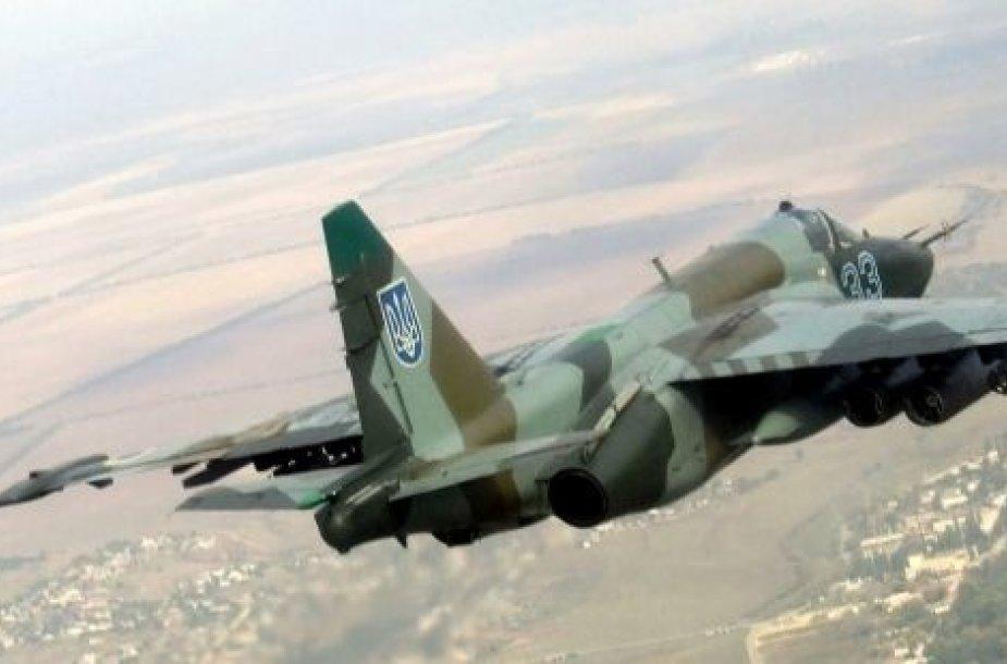 """Ukrainos naikintuvas """"Su-25"""""""