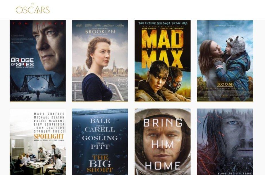 """""""Oskarų"""" nominantai geriausio metų filmo kategorijoje"""