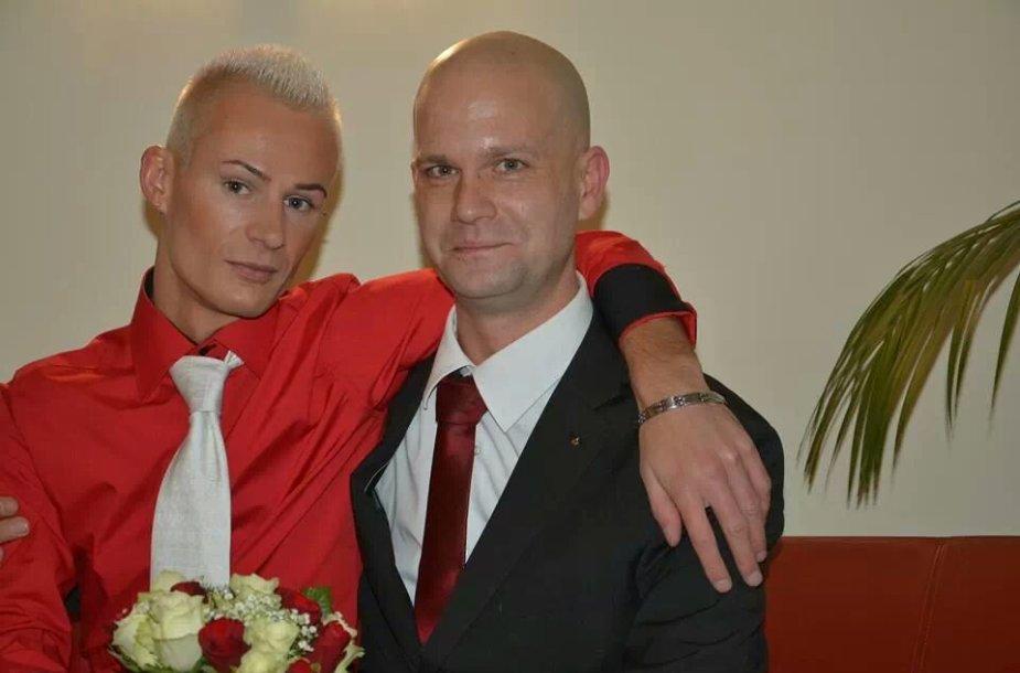 Mindaugas Gocht su vyru Wolfgangu