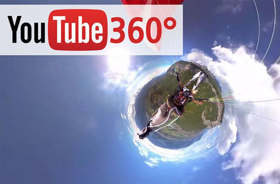 """""""Youtube"""" 360 laipsnių vaizdo palaikymo galimybė"""