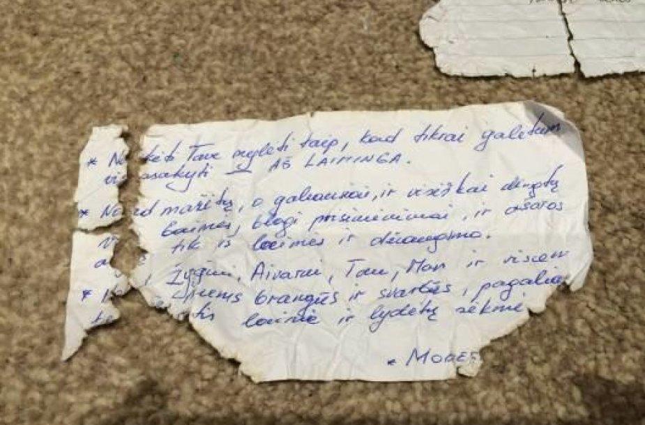 Lietuviškas laiškas iš butelio
