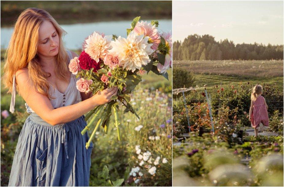 Angelina Kurauskienė ir jos gėlių ūkis