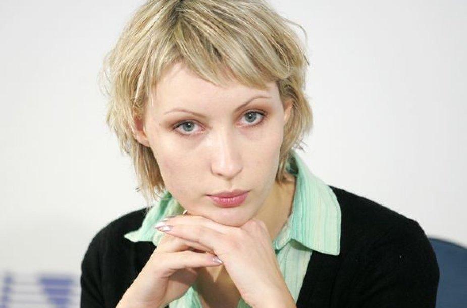 Lietuvos studentų atstovybių sąjungos prezidentė Indrė Vareikytė.