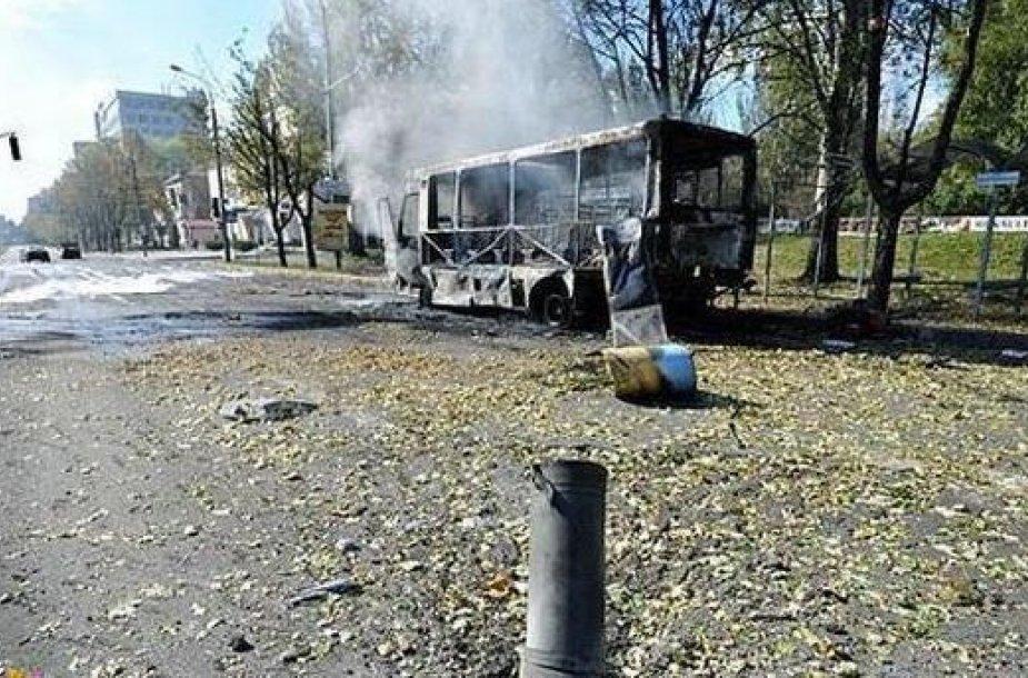Per apšaudymus Donecke trečiadienį žuvo 10 žmonių