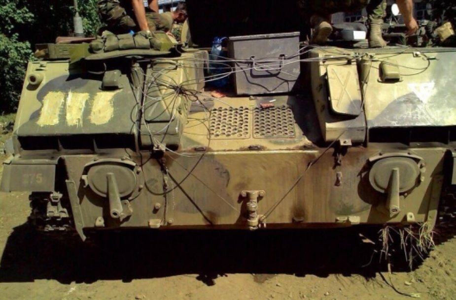 Konfiskuota karinė desantininkų mašina