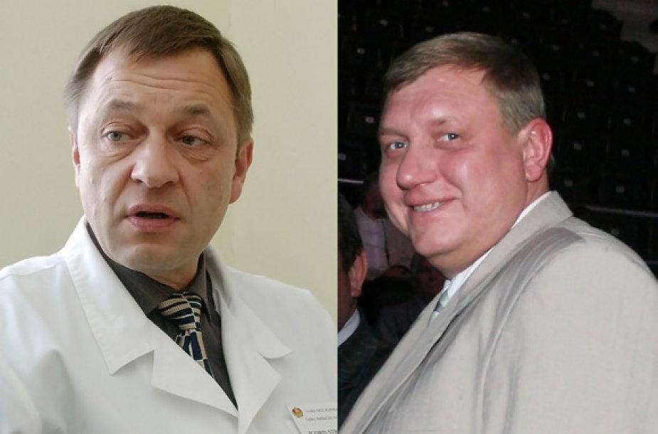 Kyšininkavimu įtariami Šiaulių miesto tarybos nariai I.Strupeikis (kairėje) ir  R.Čokovas.
