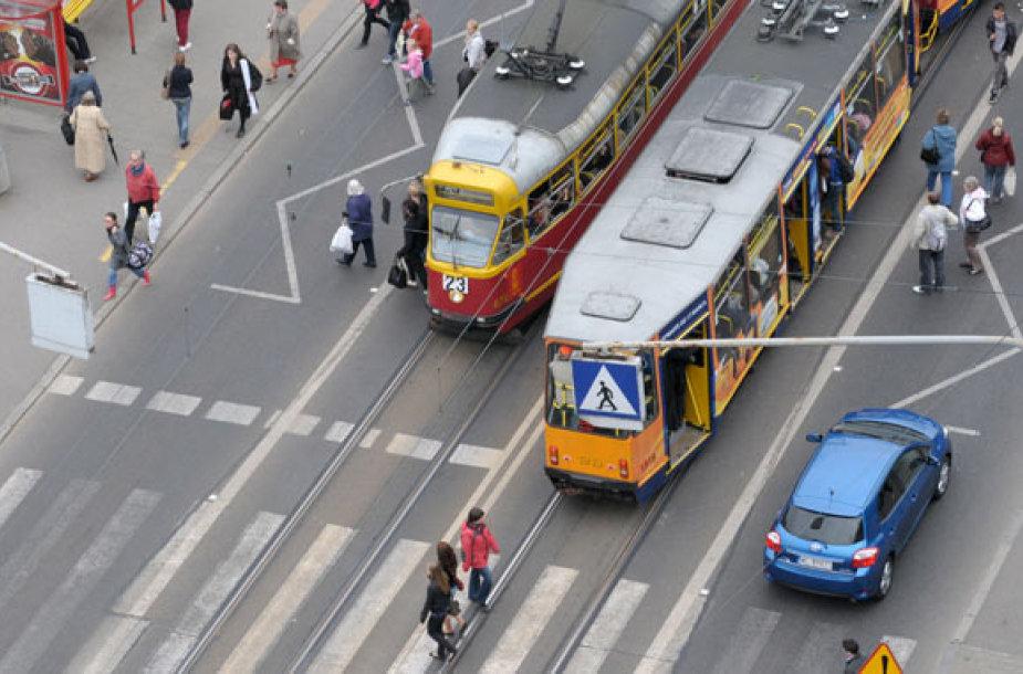 Tramvajai Varšuvos gatvėse