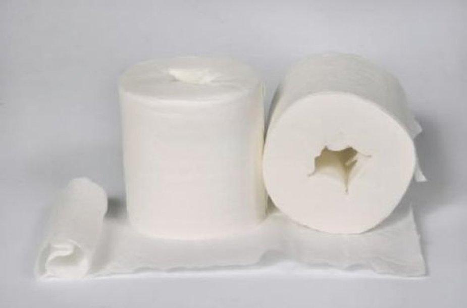 Tualetinis popierius be rulonėlio.