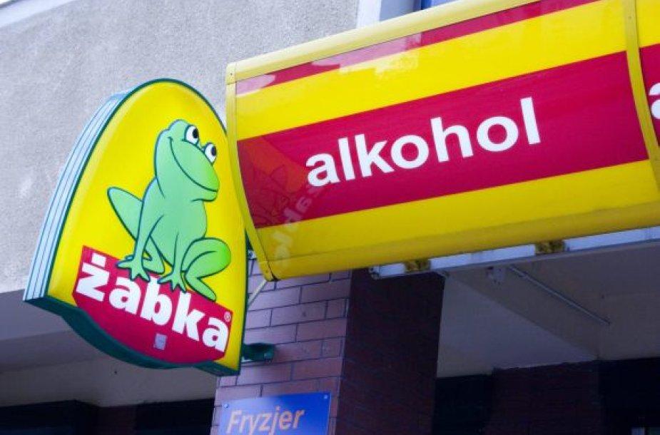 Alkoholio parduotuvė Lenkijoje