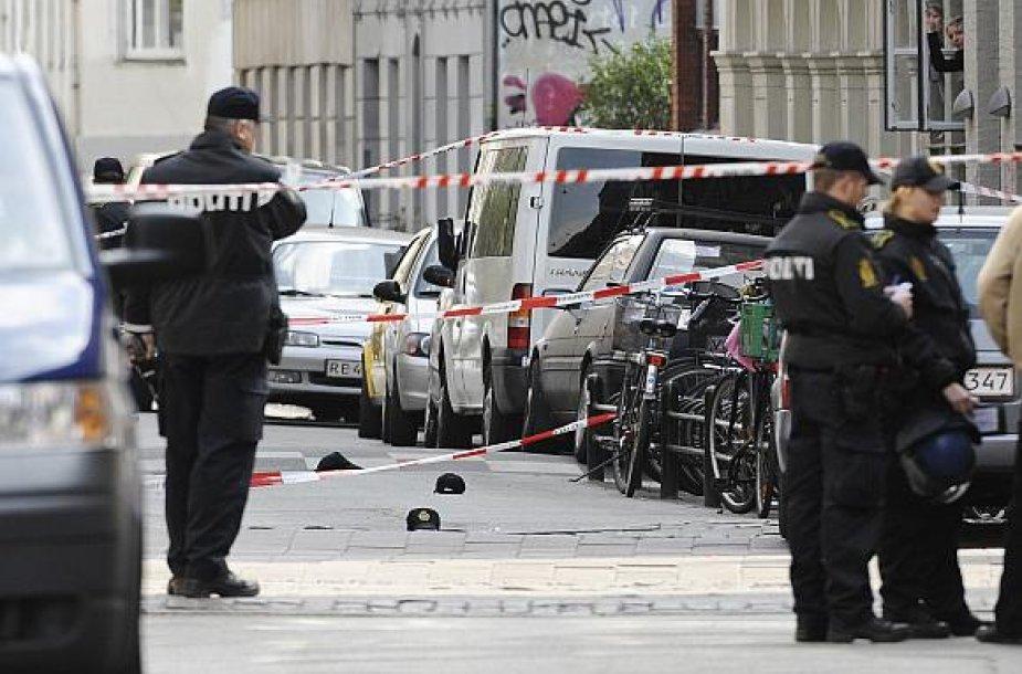 Danijos policija įvykio vietoje