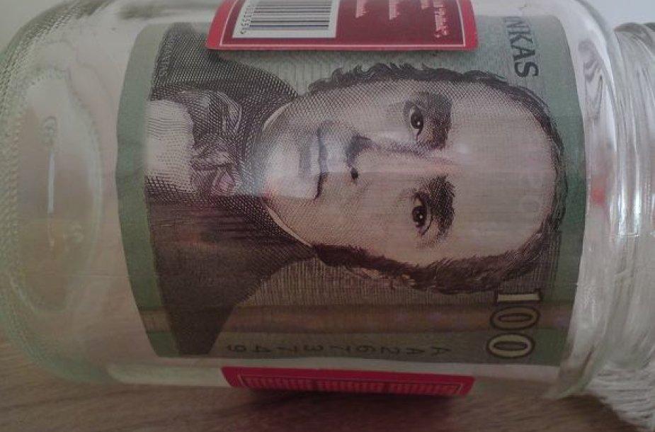 santaupos, pinigai