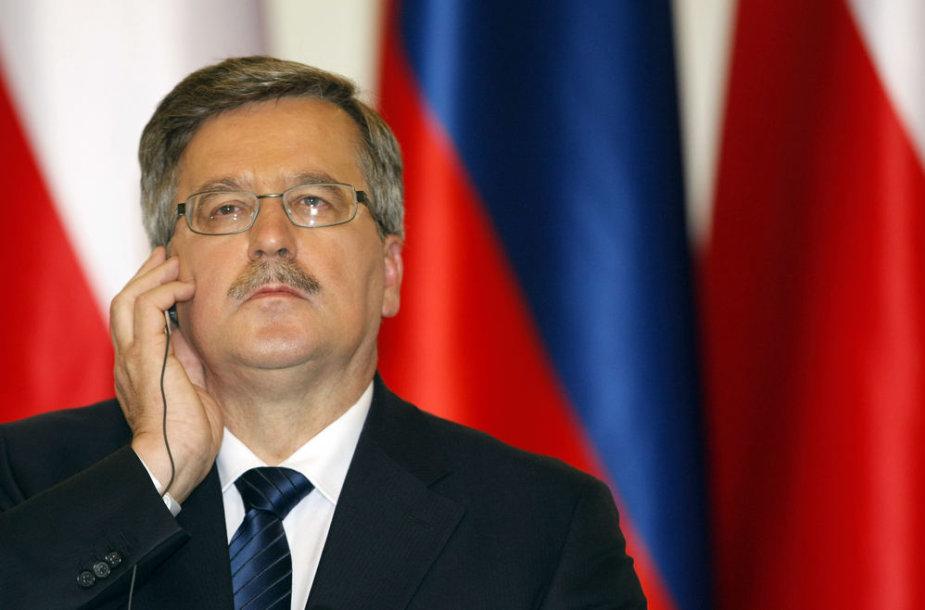 Lenkijos prezidentas Bronislawas Komorowskis