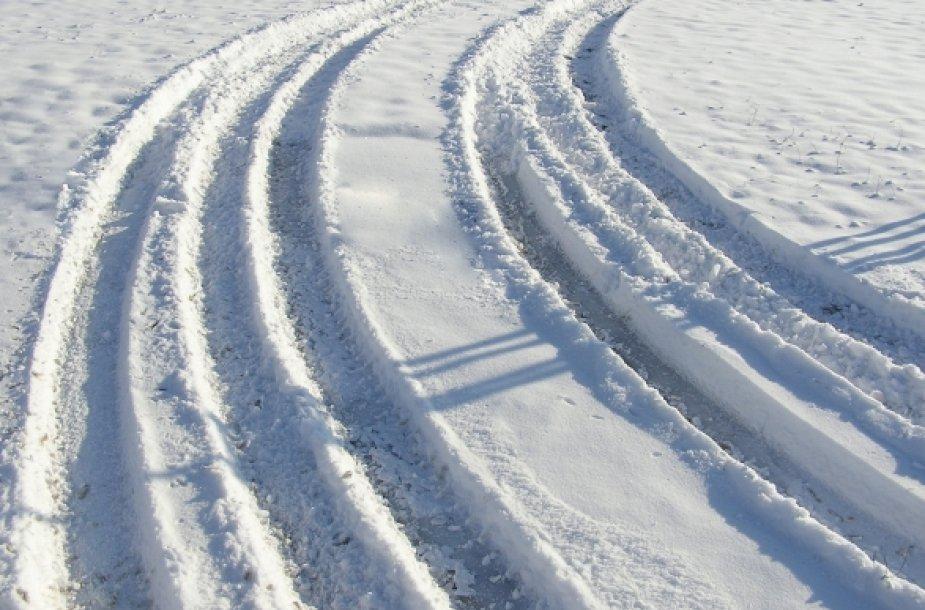 Automobilio vėžės žiemą
