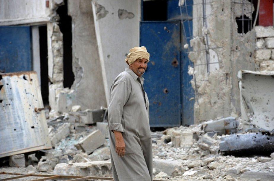 Vyras Sirto mieste