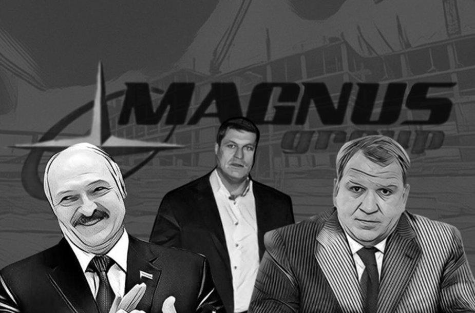 """Arūno Pukelio (viduryje) verslo sėkmė Baltarusijoje siejama su """"Lukašenkos pinigine"""" pramintu Jurijumi Čyžu (dešinėje)"""
