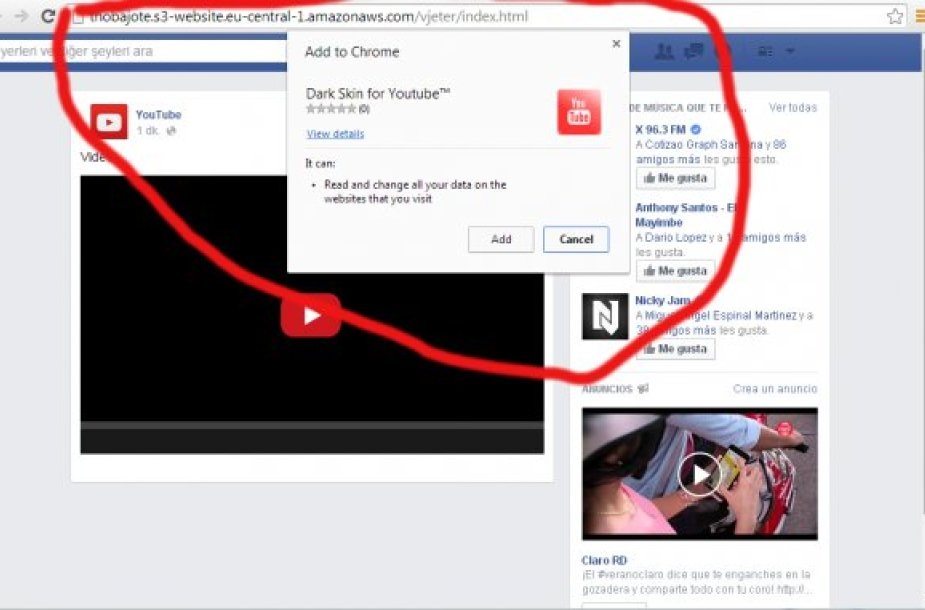 """Kenkėjiška programa """"Facebook"""" tinkle"""