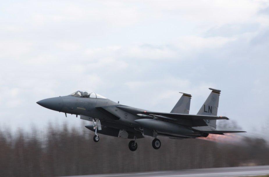 """JAV Karinių oro pajėgų naikintuvas F-15C """"Eagle"""""""