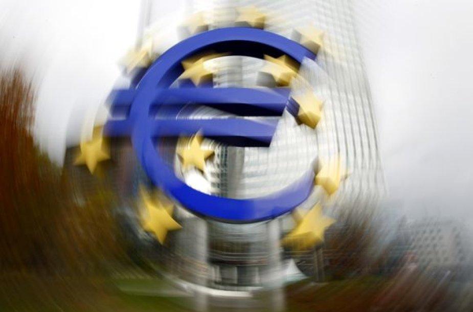 Euro simbolis prie Europos Centrinio Banko Frankfurte
