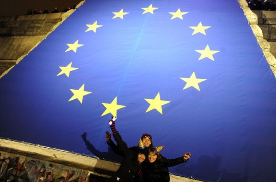 ES simbolis Prahoje