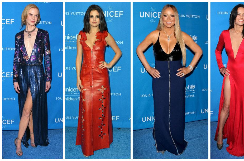 Nicole Kidman, Selena Gomez, Mariah Carey ir Michelle Rodriguez