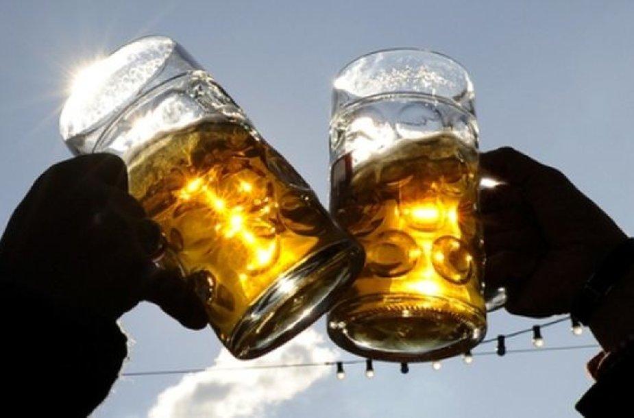 Veikiantis alaus baras – savotiškas prizas.