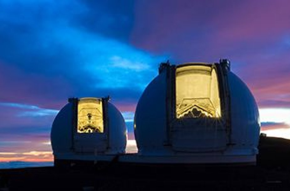 Kecko observatorijos kupoluose – vieni didžiausių optinių teleskopų planetoje/ Keckobservatory.org