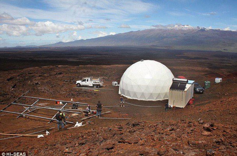 Marso kolonizatorius imituoančių žmonių būstas, kuriame jie gyvens vienerius metus