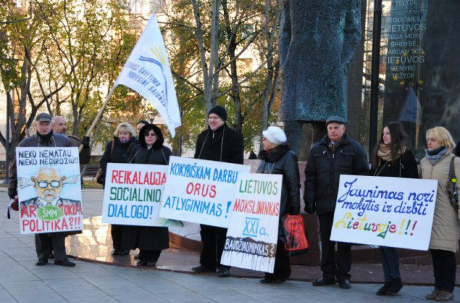 Lietuvos aukštųjų mokyklų profesinių sąjungų susivienijimo piketas