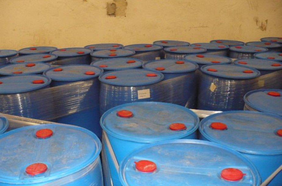 Muitinė sulaikė didelį kiekį chemijos produktų