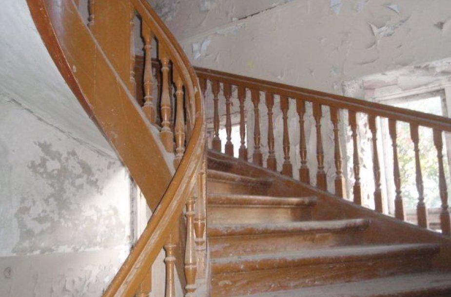 Taip atrodė laiptai iki restauravimo darbų.