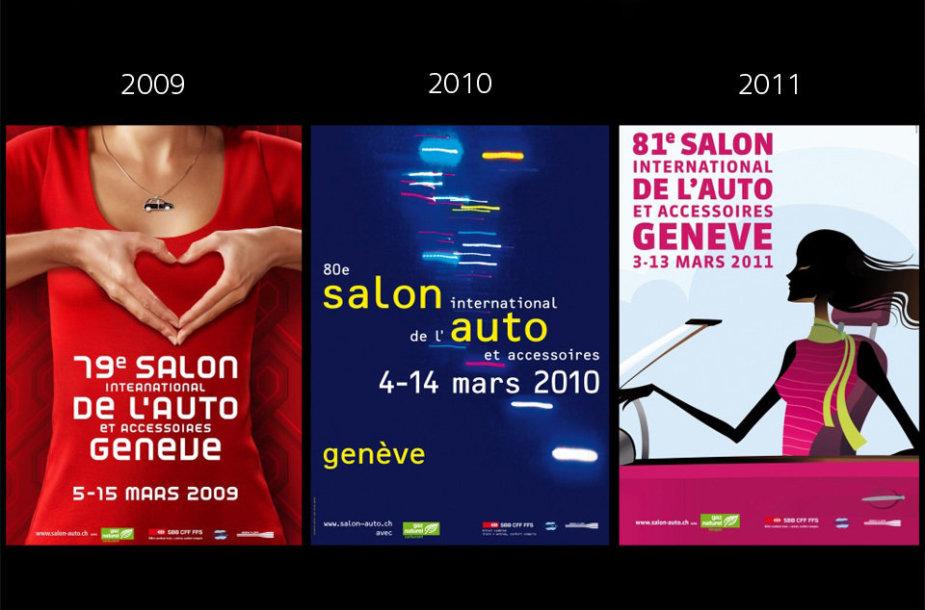 Istoriniai Ženevos automobilių parodos plakatai