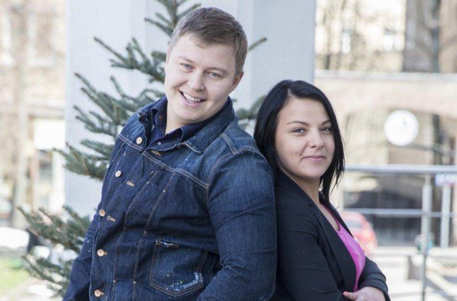Airidas Karpavičius su mylimąja Oksana