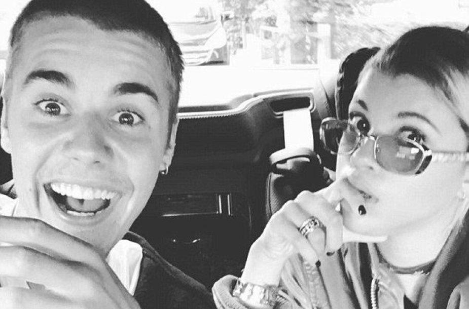 Justinas Bieberis ir Sofia Richie