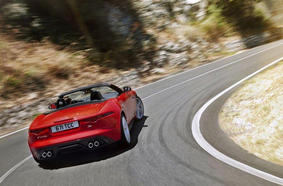 """Jaguar F-Type"" kabrioletas"