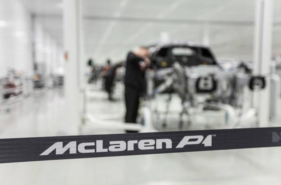 """""""McLaren P1"""" surinkimo linija"""