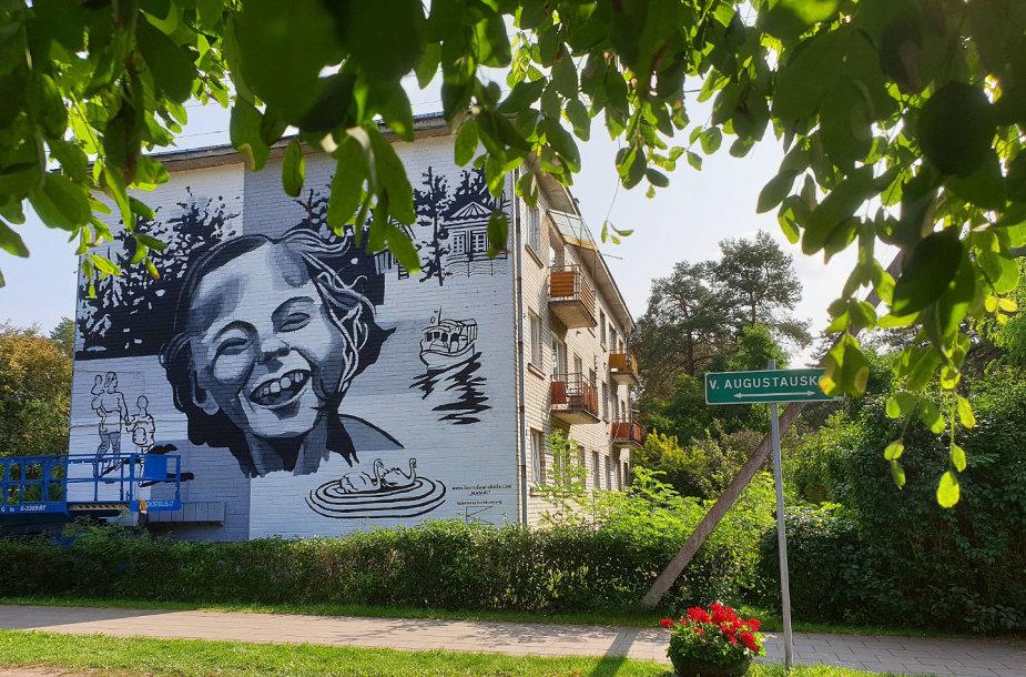 Kulautuvą papuošė gatvės meno piešinys