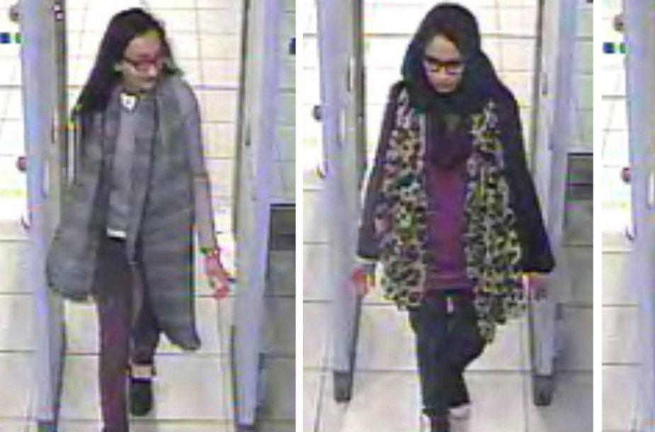Trys merginos, iš Londono išvykusios į Siriją