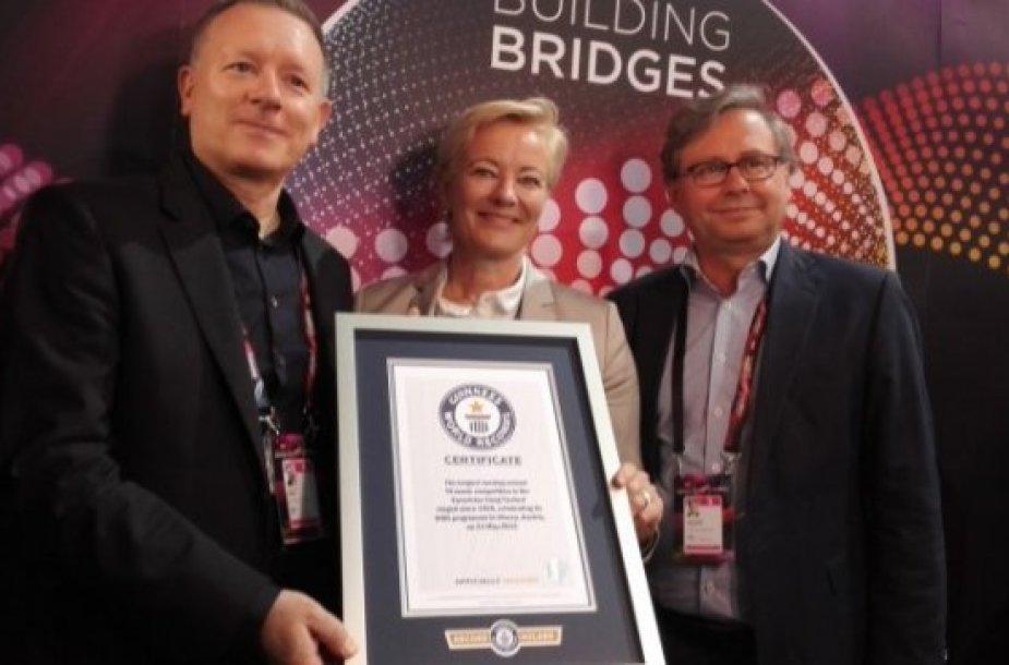 """60-asis """"Eurovizijos"""" dainų konkursas įtrauktas į """"Guinnesso"""" rekordų knygą"""