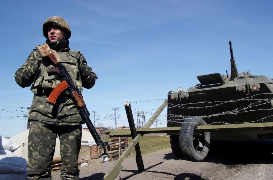 Ukrainos kariai prie Rusijos sienos