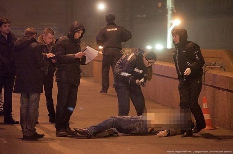 Maskvoje nušautas Borisas Nemcovas