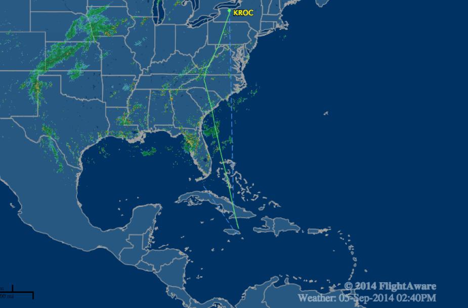 Lėktuvo trajektorija