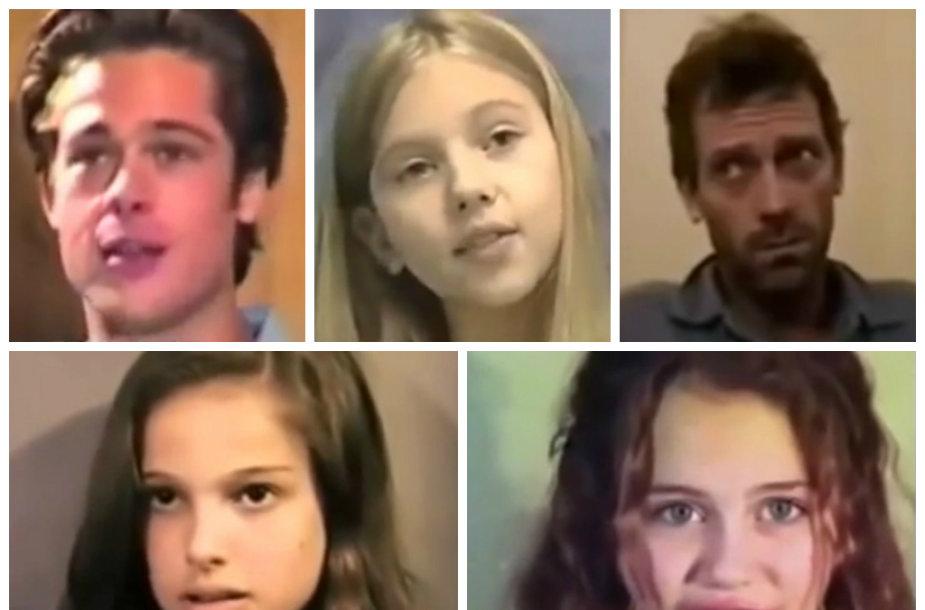 Bradas Pittas, Scarlett Johansson, Hugh Laurie, Natalie Portman ir Miley Cyrus aktorių atrankose