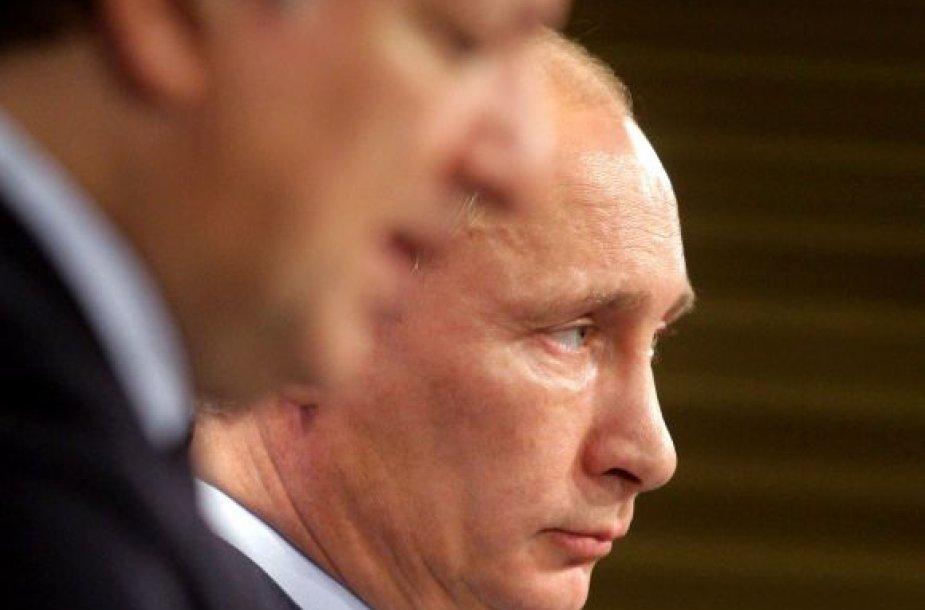 Vladimiras Putinas ir Manuelis Barroso