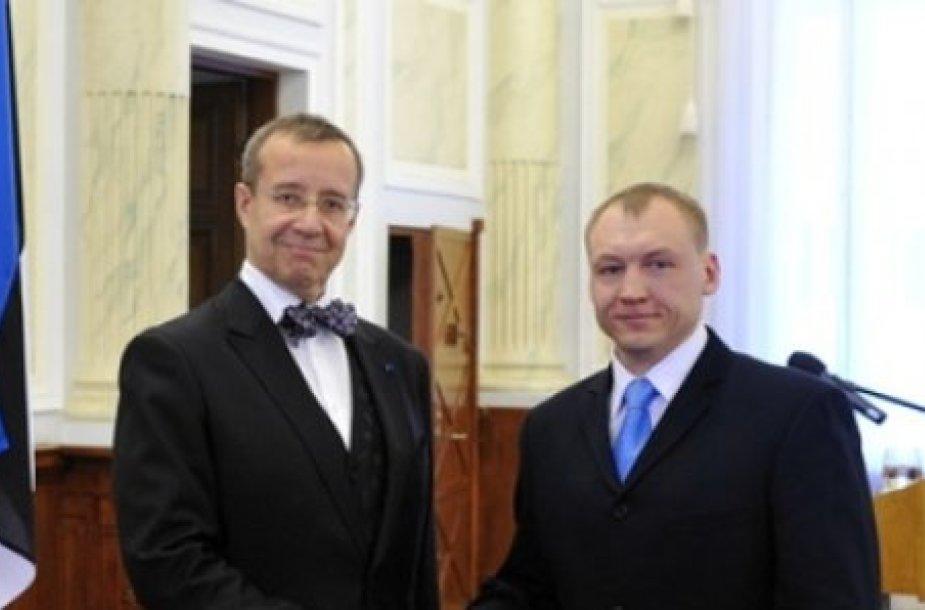 Estonas Kohveras su Estijos prezidentu