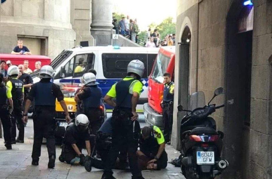 Barselonoje sulaikomas įtariamasis