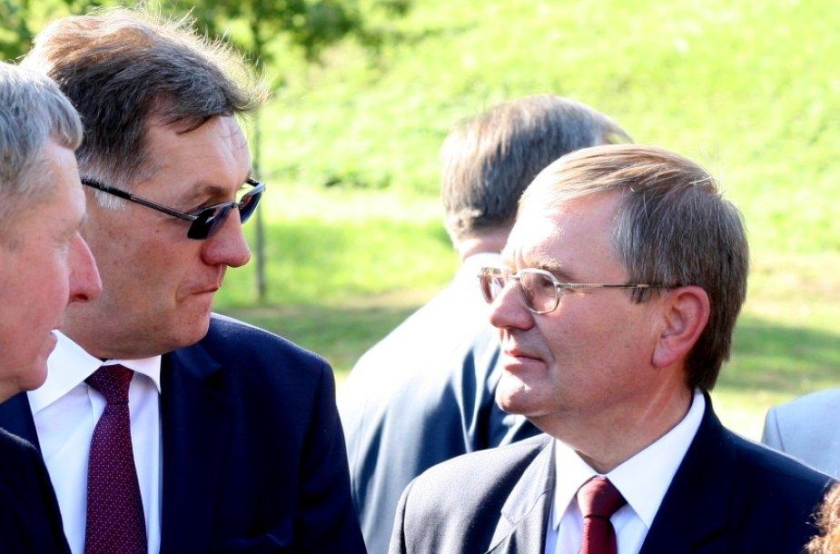 Algirdas Butkevičius ir Justinas Sartauskas