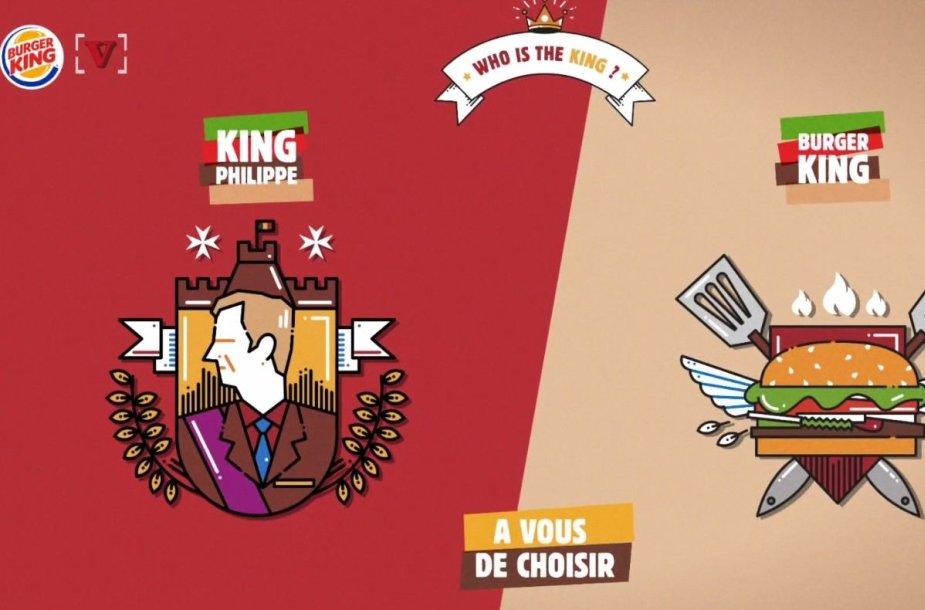 """""""Burger King"""" reklama papiktino Belgijos karalių"""