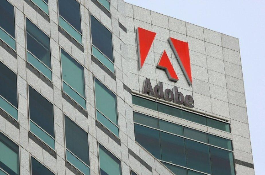 """""""Adobe Systems"""" būstinė Kalifornijoje."""
