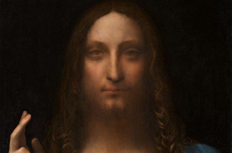 """Leonardo da Vinci paveikslas """"Salvator Mundi"""""""