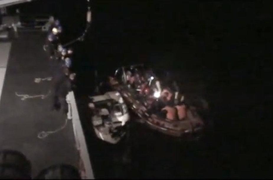 Gelbėjami į bėdą patekę žvejai